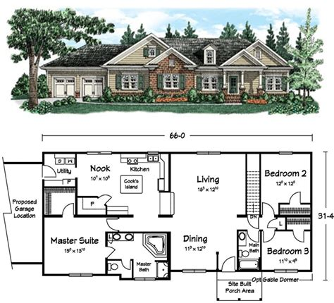 completely open floor plans spacious master bath and completely open living dining area ranch style homes pinterest