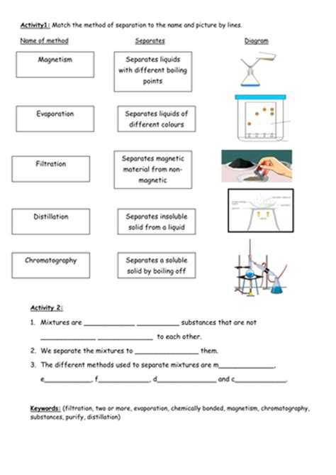 Chemistry Separation Techniques Worksheet by Separation Techniques Worksheet Abitlikethis