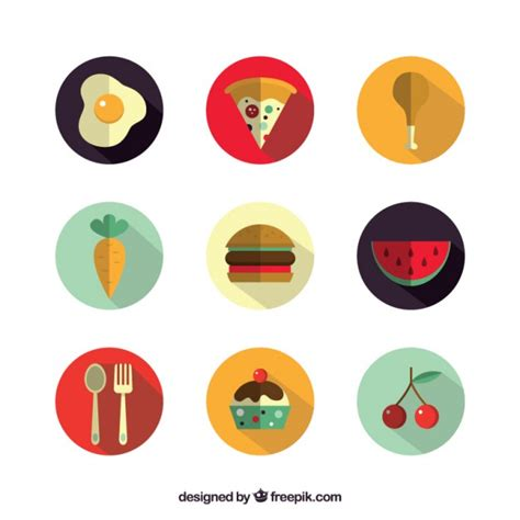 food vector delicious food icons vector free