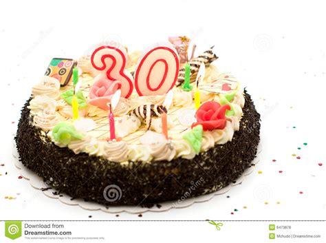 Bolo De Aniversário 30 Anos Foto de Stock   Imagem: 6473878
