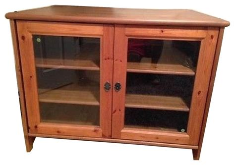 Tv Storage Cabinet With Doors Ikea Leksvik Solid Pine Tv Cabinet With Glass Doors Entertainment Centers And Tv Stands New