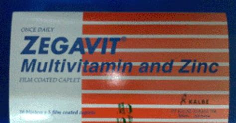 Vitamin Zegavit Brochures Zegavit Tablet Multivitamin And Zinc