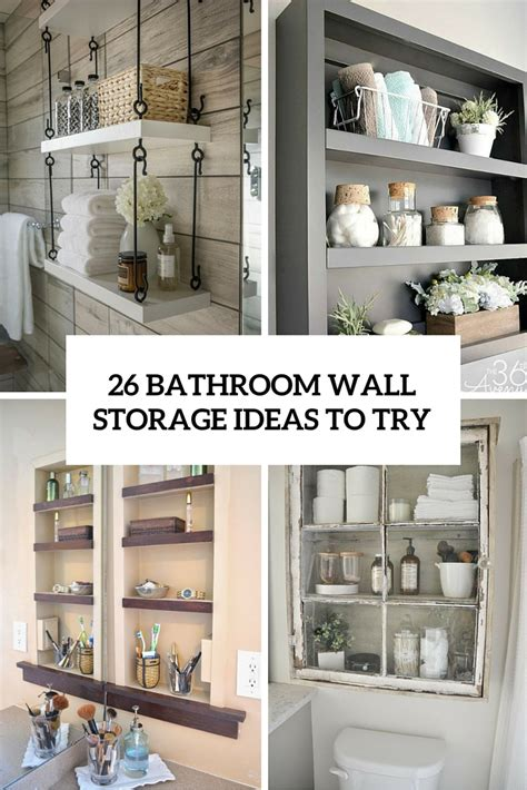 wall ideas for bathroom 26 simple bathroom wall storage ideas shelterness