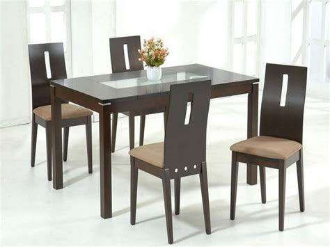 Glass And Wood Dining Room Table Wood And Glass Dining Table And Chairs Glass Dining