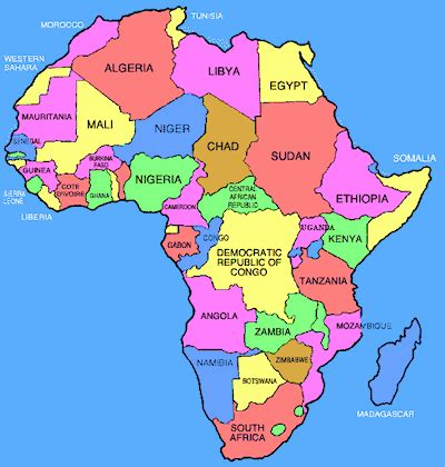 regions of africa map table tennis find a club in africa
