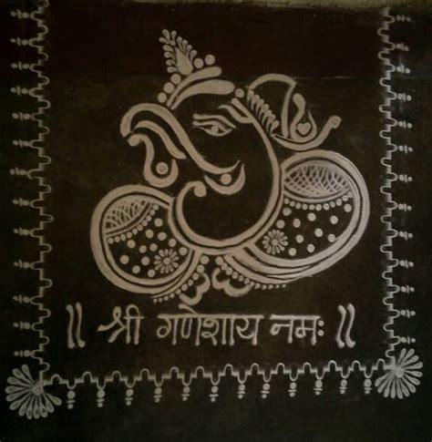 invitation rangoli design 55 best ganesa rangoli images on pinterest rangoli ideas