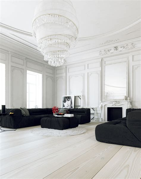 visualize furniture in room 30 black white living rooms that work their monochrome magic