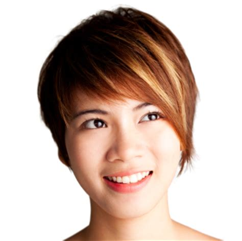 short side swept teen hairstyle