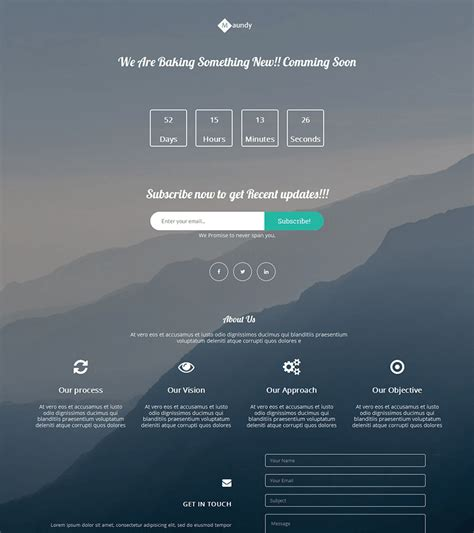 15 Free Bootstrap Landing Pages Templates Coming Soon Template