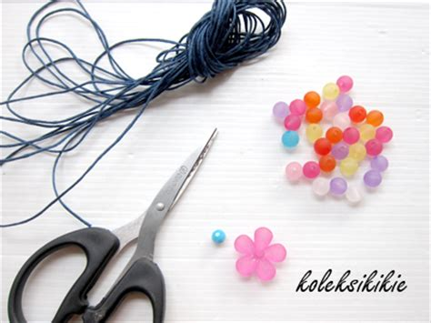 membuat gelang untuk dijual membuat gelang tali bunga akrilik koleksikikie