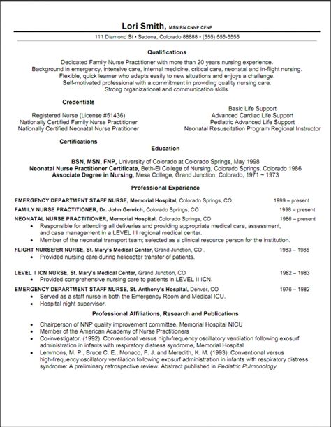 Rn Resume Outline Practitioner Resume Objective Resume Sles Resume Objective And