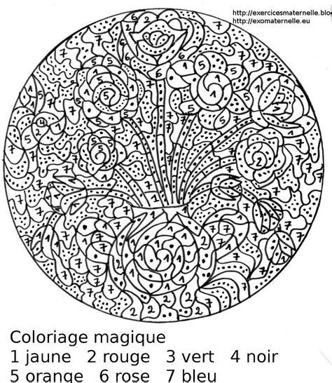 Maternelle Coloriage Magique Des Fleurs Dans Un Vase