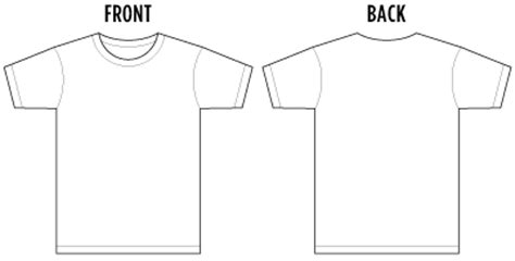 t shirt template front and back front and back t shirt outline clipart best