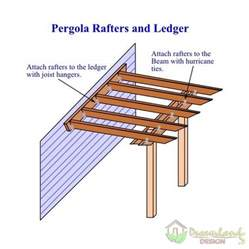 Pergola Ledger by Diy Pergola Kit How Do You Build A Pergola Plans Attached