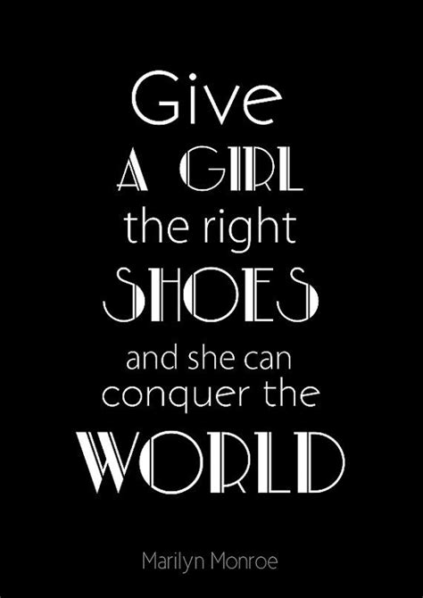 give a a pair of shoes quote typographic print fashion quote print poster by