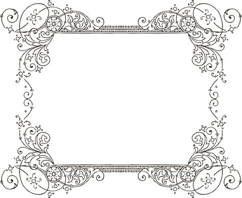 fancy border template more free clipart vintage frames borders ornaments