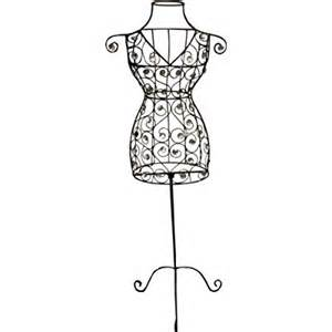 Mannequin Outline by Dress Mannequin Outline Sketch Coloring Page