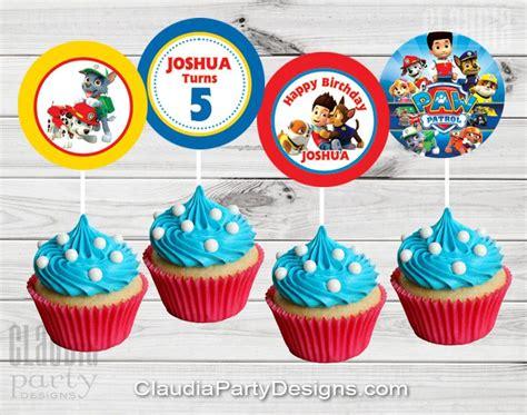 Paw Patrol Cupcake Toppers   Paw Patrol Birthday   Claudia Party Designs