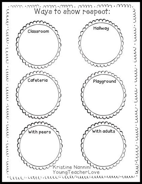 Respect And Responsibility Worksheets by Teaching Respect Crafts