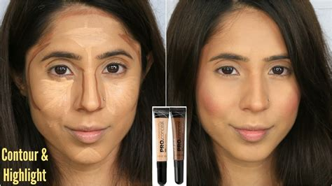 contouring for light brown skin how to contour highlight using la pro concealers