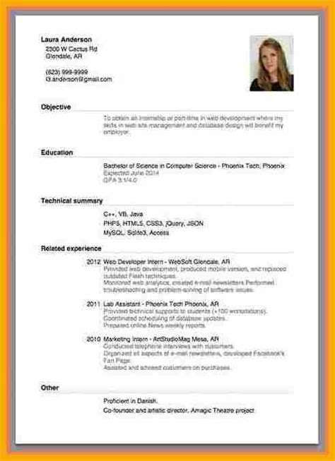 application letter cv 9 exle of curriculum vitae for application