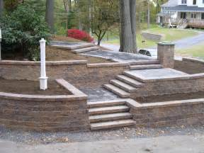 Retaining Wall Stairs Design Roland Beginner Design Your Landscape Block Steps
