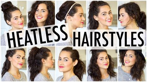 quick and easy japanese hairstyles 10 heatless hairstyles youtube