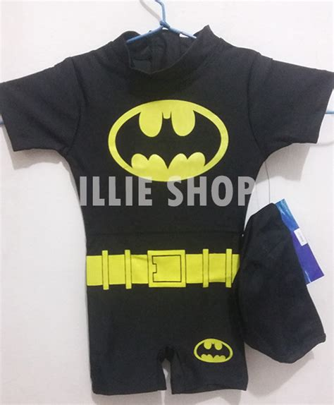 Setelan Batman Army Anak Dan Baby jual baju renang bayi baby batman bds004 illie shop
