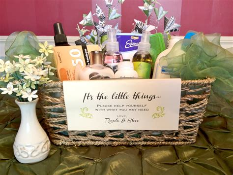 what to put in a bathroom basket for a wedding hospitality bathroom baskets just b cause