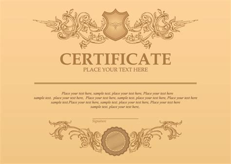 web design certificate gmu classical styles certificate template vectors free vector
