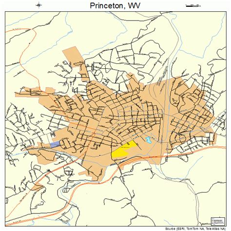 princeton map princeton west virginia map 5465692