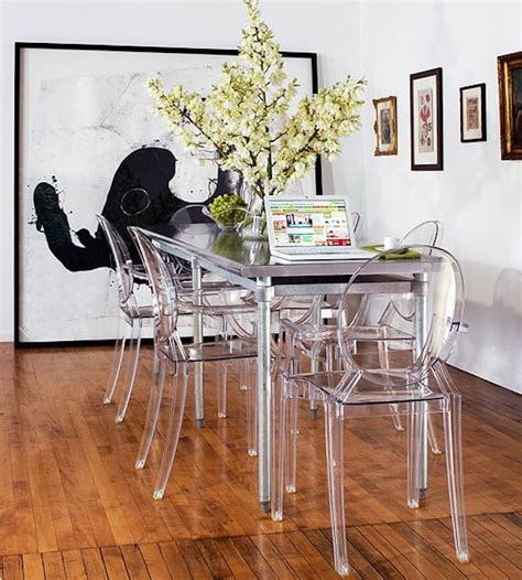 Design Acrylic Dining Chairs Ideas 10 Narrow Dining Tables For A Small Dining Room