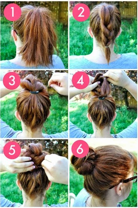The Knot So Braided Bun | coiffure simple et rapide pour l 233 cole coiffure simple