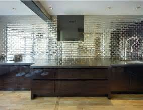 mirrored kitchen backsplash current obsessions mirrored subway tile design sponge