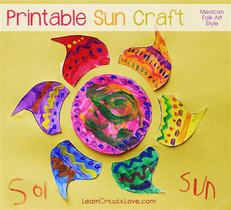 mexican crafts for printable craft mexican folk sun