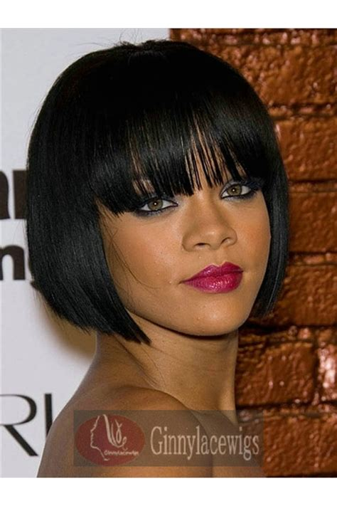 how to style a bob with 10 inch hair rihanna full lace wigs 10 inch 1 jet black short bob with