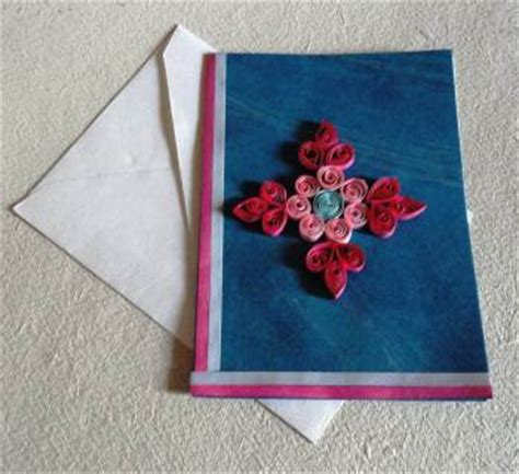 Designs For Greeting Cards With Handmade Paper - handmade paper quilled greeting cards in reddiarpalayam