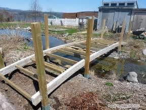 handcrafted garden bridge build cedar footbridge for