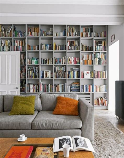 living room display shelves this grey living room with floor to ceiling bookcases uses a shelf structure but