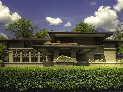 frank lloyd wright prairie house house wallpaper meyer may house