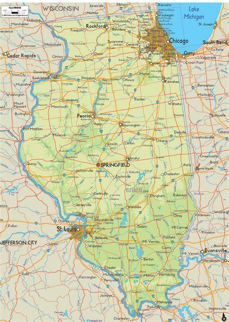 rockford usa map illinois map and illinois satellite images