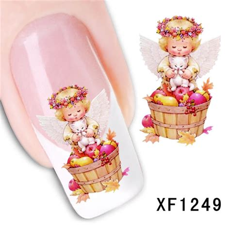 Nail Bonbon Water Decals Xf Series Part 2 design water transfer nails sticker decals manicure tools nail wraps decals