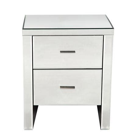 Set Of 2 White Bedside Tables Venetian Mirrored 2 Drawer Bedside Cabinet Dunelm