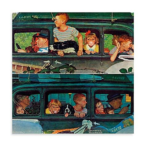 bed bath and beyond norman norman rockwell coming and going canvas wall art bed
