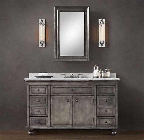 Restoration Hardware Bath Vanity zinc vanity restoration hardware bathroom oasis