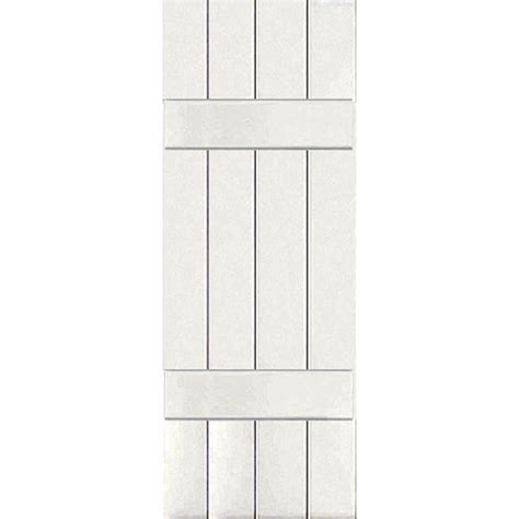Home Depot Wood Shutters Interior Homebasics Plantation Faux Wood White Interior Shutter Price Varies By Size Qspa3124 The
