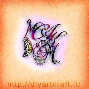 tatuaggi di lettere intrecciate 12 idee stemma astratto 4 lettere intrecciate