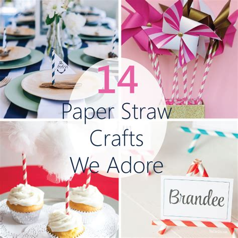 14 paper straw crafts we adore linentablecloth