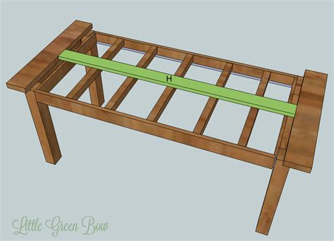 how to make a table bench table7 little green bow