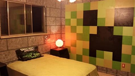 minecraft theme bedroom creative parents surprise children with minecraft themed